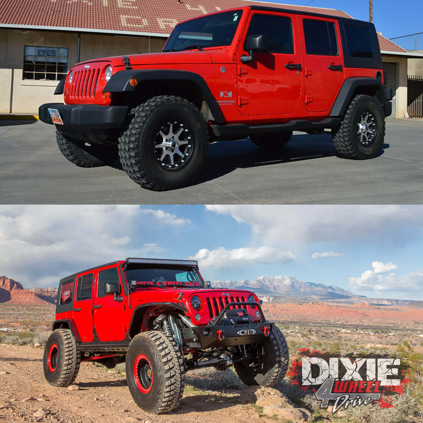 His And Hers Jeep Wrangler Unlimiteds Dixie 4 Wheel Drive